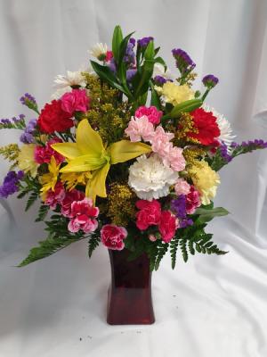 Full of Love Garden Assortment in Vase- Large BEST SELLER!!  in Sunrise, FL | FLORIST24HRS.COM