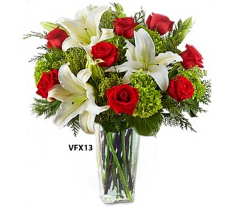 Best Wishes and Cheers Christmas Flowers
