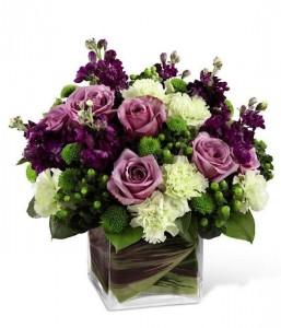 Deep Purple Passion Cube Vase