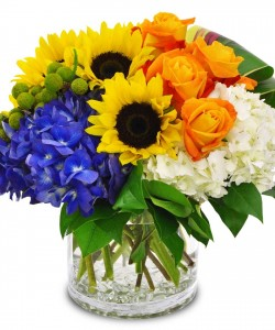 Better With Blue Birthday Flowers