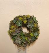 Between the Vines Custom Succulent Wreath