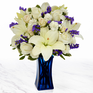 Beyond Blue Vase Arrangement in Edmond, OK | ALL ABOUT FLOWER POWER