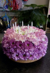BF-19 CAKE MADE OF FLOWERS