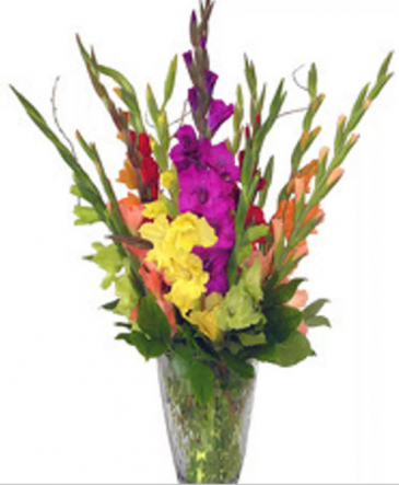 BF Unique Love Floral Design Tall colorful Love Arrangement
