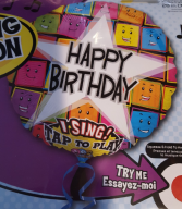 Popular Singing Oversized Mylar Balloon... Every time you tap it...it Sings Happy Birthday to you!!!