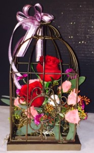 M15 Bird Cage with roses