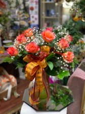 Bi-color orange roses Arrangement
