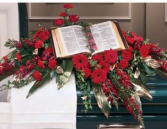 King James Bible Blanket Casket Spray