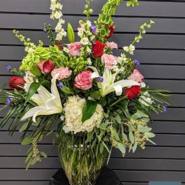 Big Bold and  Beautiful Fresh Vase Arrangemetn