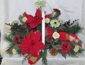 Big Country Basket Permanent Arrangement by Inspirations Floral Studio in Lock Haven, PA | INSPIRATIONS FLORAL STUDIO