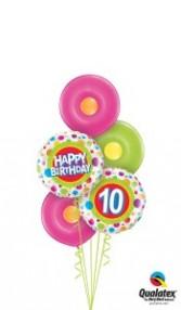 Big Dots birthday balloons