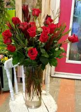 Big Love Vase of Roses Valentines