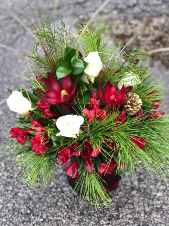 Big Red Holiday Vase