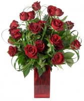 Big Red Rose Arrangement