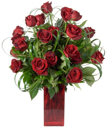 Big Red Rose Arrangement