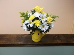 BIG SMILE!!! MUG ARRANGEMENT in Springfield, VT | WOODBURY FLORIST