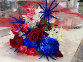 Big Valley Memorial Day Mixed Bouquet  Red White & Blue