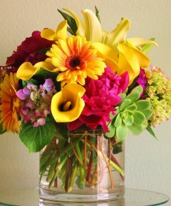Bright Lights  Vase arrangement  in Oakville, ON | ANN'S FLOWER BOUTIQUE-Wedding & Event Florist