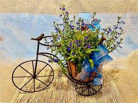 Bike Planter  in Fowlerville, MI | ALETA'S FLOWER SHOP