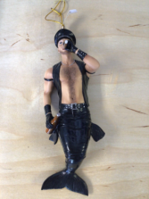 Biker Merman Merman hanging decor