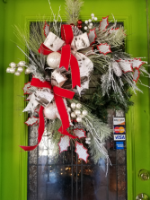Birch and Holly wreath