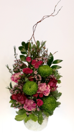 Birch Blossoms Container Arrangement in Invermere, BC | INSPIRE FLORAL BOUTIQUE