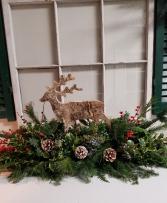 Birch reindeer centerpiece Holiday