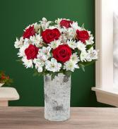 Birch Vase Roses