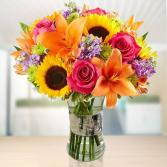 Birch Wood Vase Bouquet