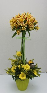 Alstroemeria Topiary  fresh flower arrangement