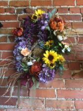Bird House Wreath