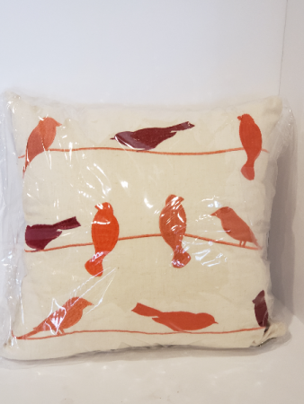 Bird on a line Cushion Giftware