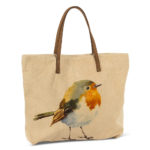 Bird Tote cotton and leather