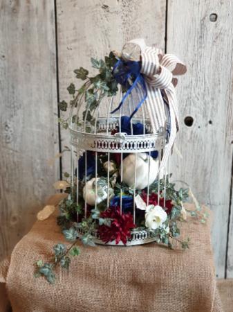 Birdcage  permanent floral