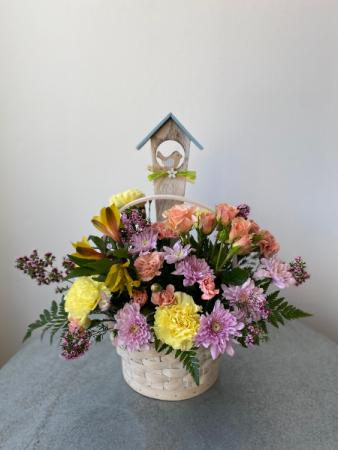 Birdhouse Basket