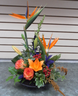 Birds of Fall Dish Arrangement in Calgary, AB | FIRST CLASS FLOWERS LTD.