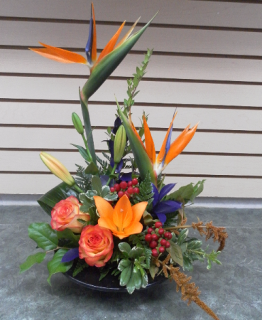 Birds of Fall Dish Arrangement