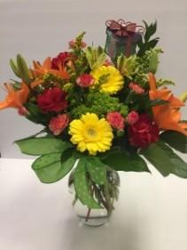 Birithday Present Bouquet Birthday Vase