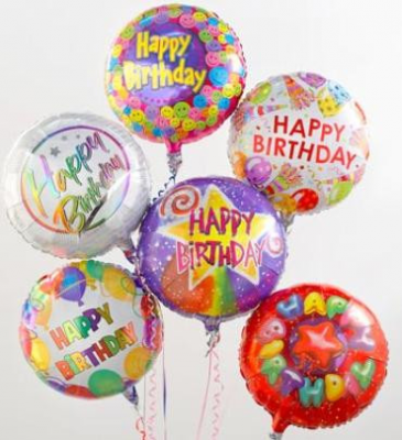 Birthday Balloon Bunch Mylar Balloon