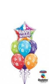 Birthday BalloonsBouquet  6+1 Balloons