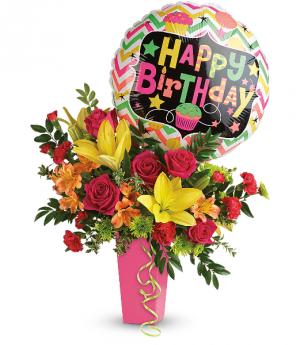 Birthday Bash Bouquet HBC041B in Henniker, NH | HOLLYHOCK FLOWERS