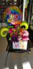 Birthday Bash Box  Candy Box with Balloons and stuffed animal