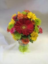 Birthday Bash Fresh florals in Drinkware