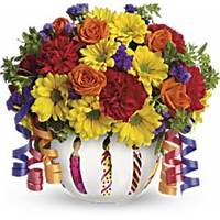 Birthday Bash Fresh Vase Arrangement
