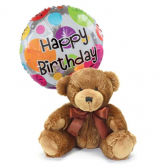 Birthday Bear and Mylar