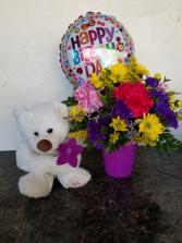 Birthday Bear Bouquet Birthday container