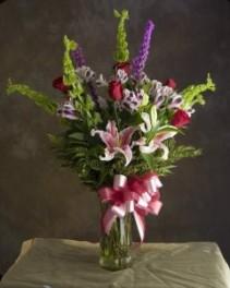 Romance Bouquet Vase Arrrangment