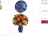 Birthday blooms Vase with colorful flowers