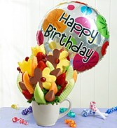 Birthday Bonanza Fresh Fruit Bouquet With Balloon