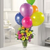 Birthday Bouquet of Flowers & Balloons